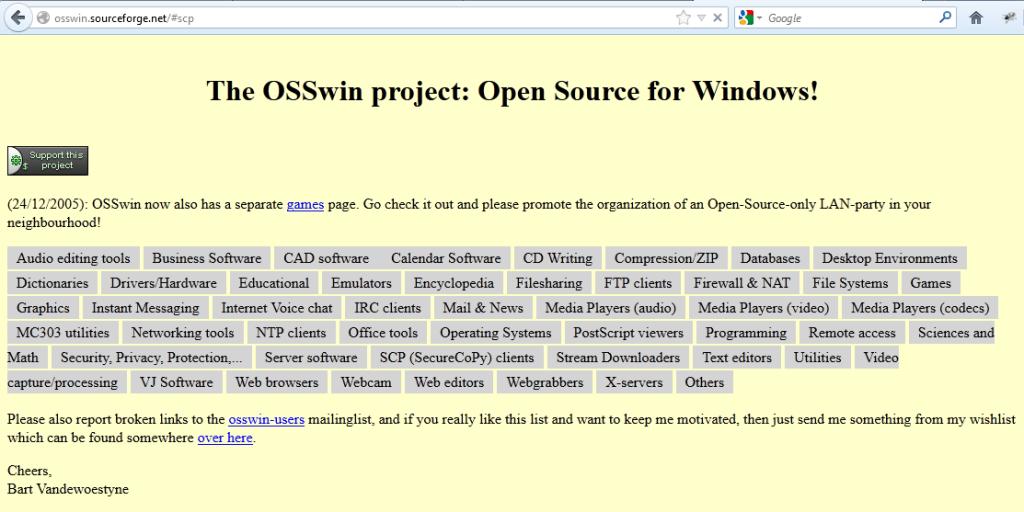โปรแกรม Open Source สำหรับ Windows